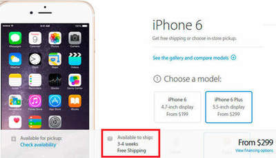 Apple har sålt all materiel iPhone 6 Plus på några timmar